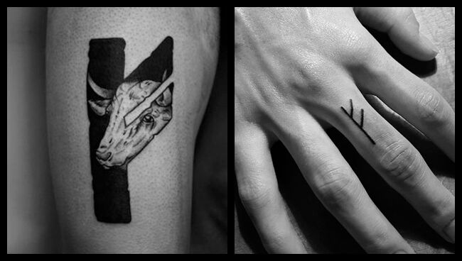 Руна Феху татуировка