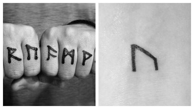 Руна Уруз татуировка