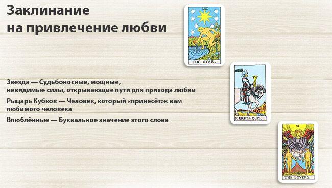 Ритуалы с картами Таро на привлечение любви