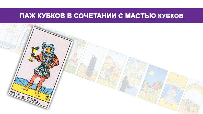 Значение Пажа Кубков Чаш с мастью кубков