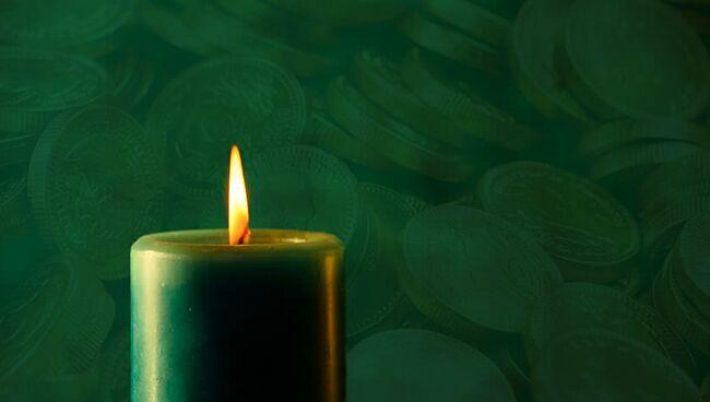 Денежный ритуал с зелёной свечой