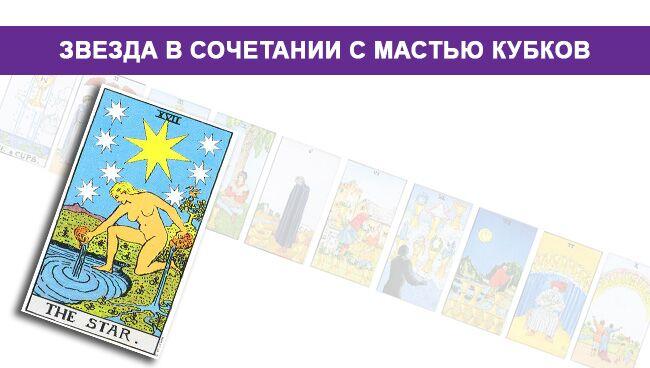 Значение Звезды в сочетании с мастью Кубков