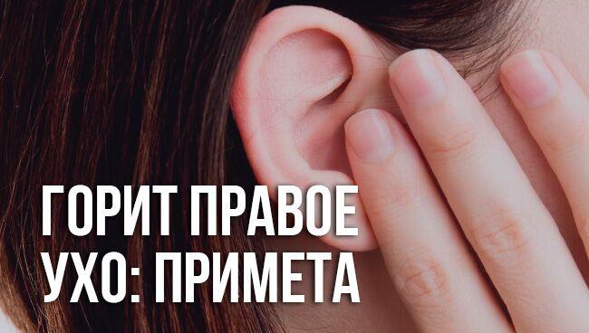 приметы: горит правое ухо
