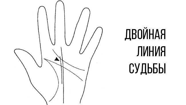 Линия судьбы на руке двойная