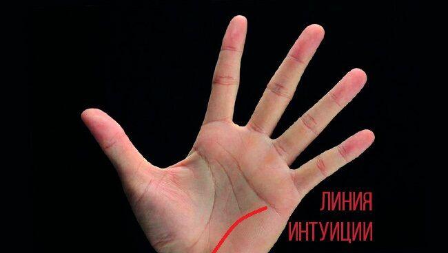 Линия интуиции на руке: значение, где находится, как выглядит
