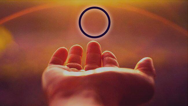 Кольцо или круг на ладони