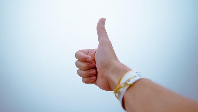 В хиромантии большой палец руки