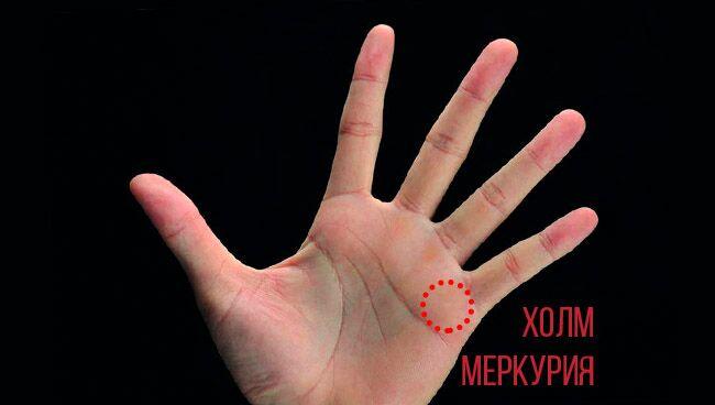 холм Меркурия на руке