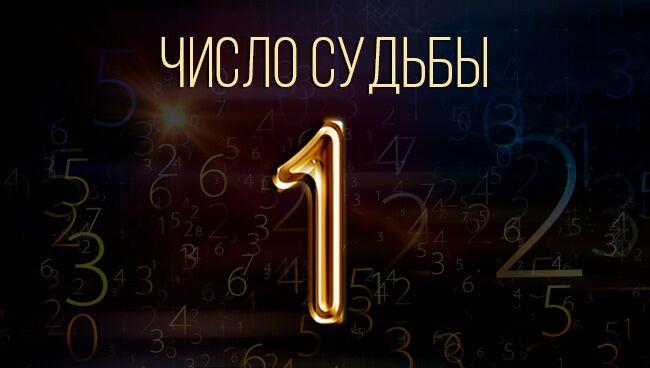 Число судьбы 1