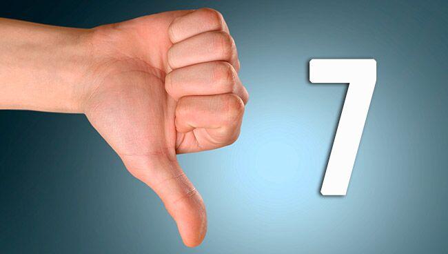 Негативные проявления числа 7 в нумерологии