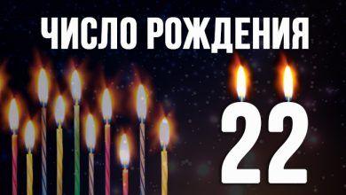 Число рождения 22