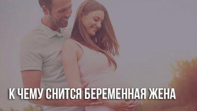 Приснилась беременная жена
